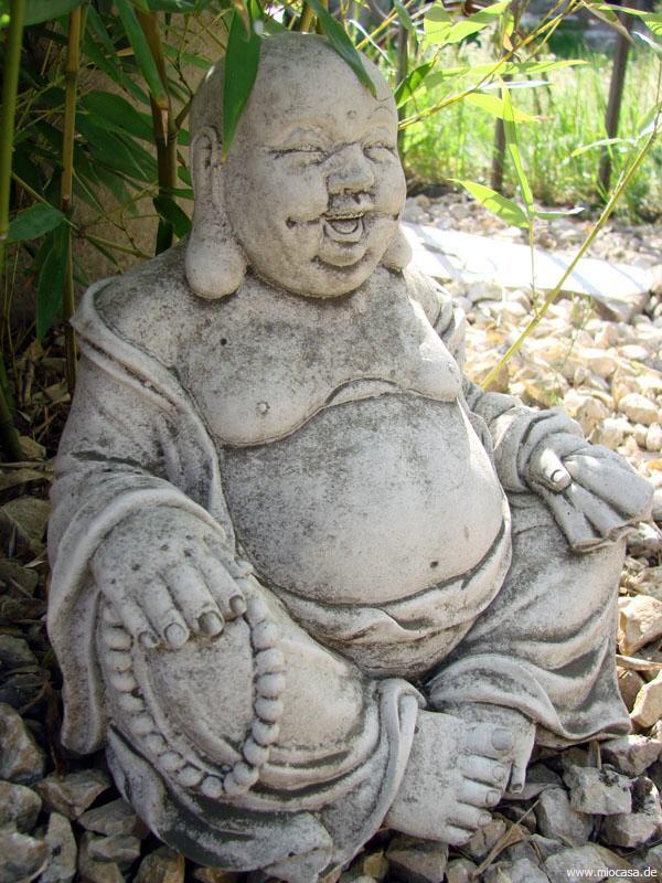 sitzender buddha f r den garten und die wohnung aus stein. Black Bedroom Furniture Sets. Home Design Ideas