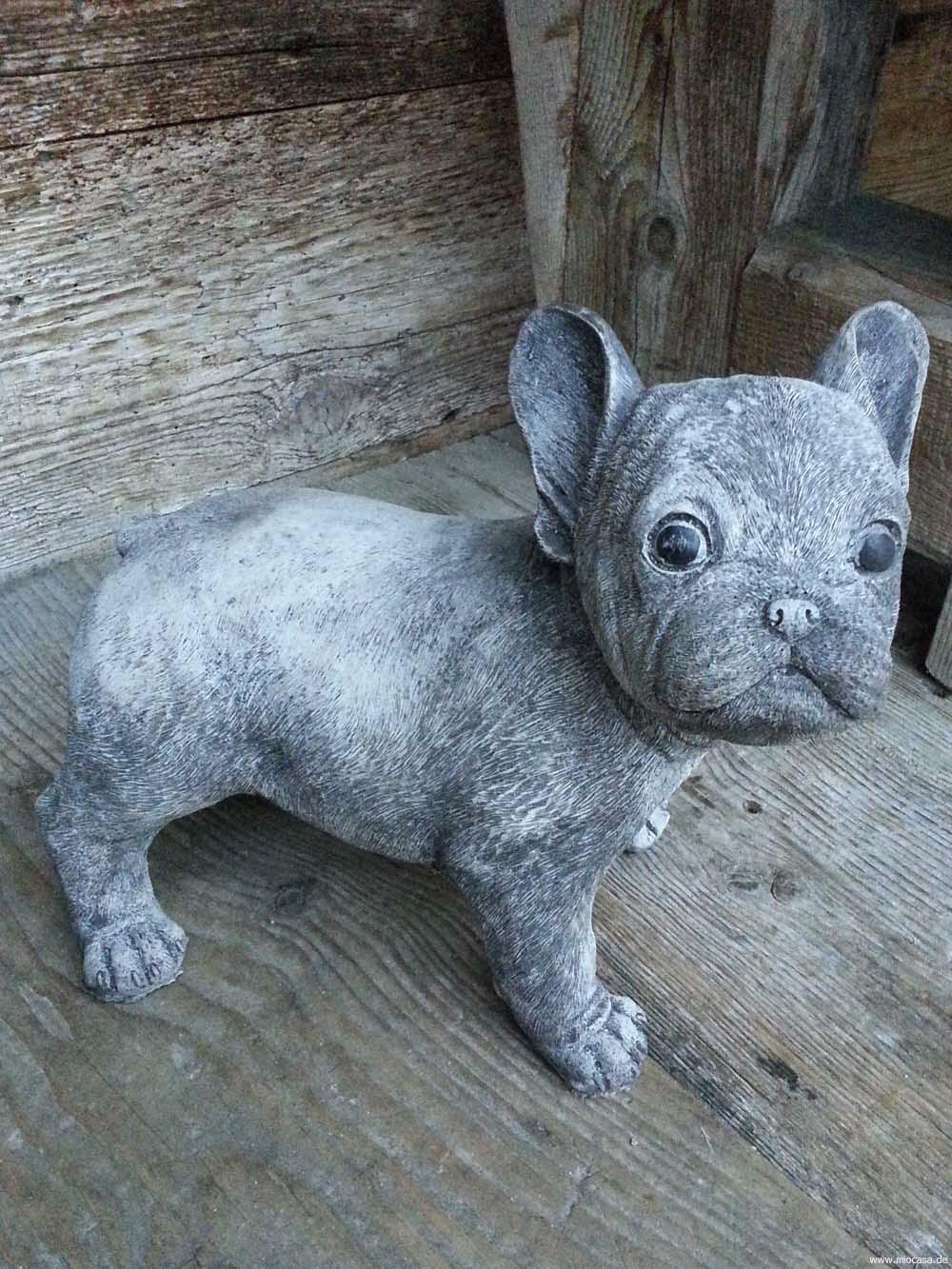 Franzsische Bulldogge Mops Englischer Antiksteinguss