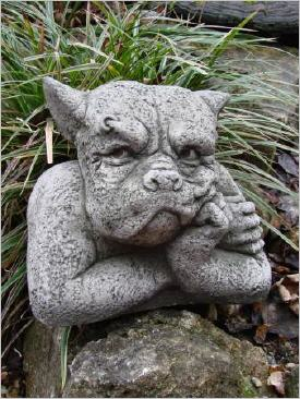 Gargoyle Gordon Steinfigur designed by Fiona Scott - Frostfester Antiksteinguss
